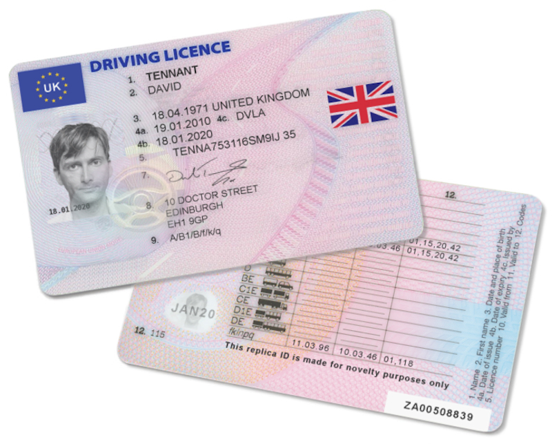 United Kingdom Driving Licence