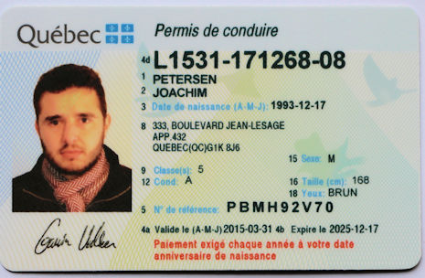 Quebec Drivers Licence