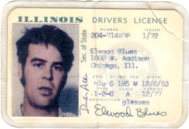 Illinois Drivers License (1970s)